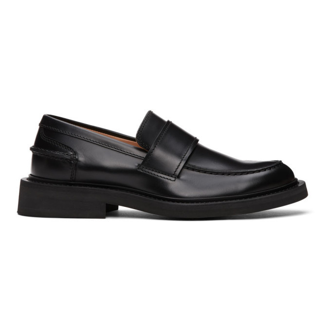 Photo: Bottega Veneta Black Rubber Sole Loafers