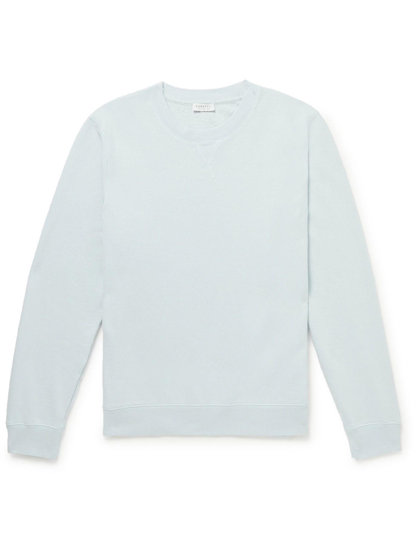 SUNSPEL - Cotton-Jersey Sweatshirt - Blue