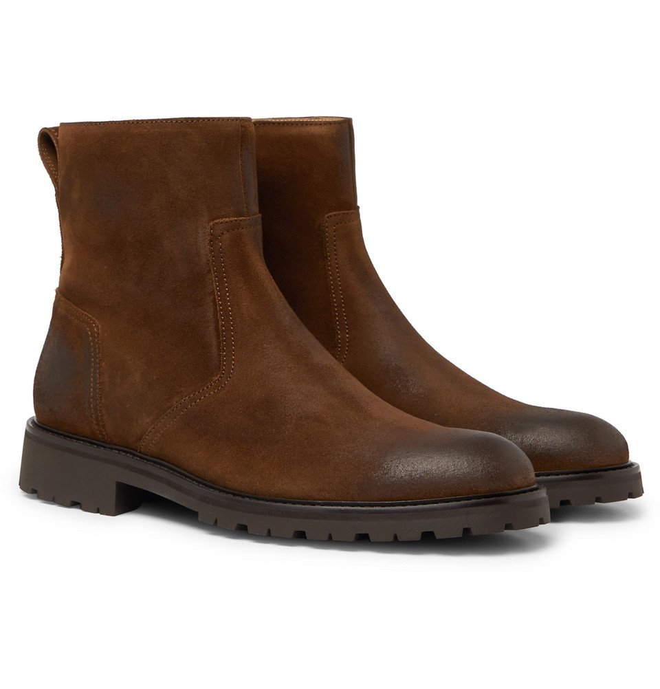 Photo: Belstaff - Attwell Burnished-Suede Boots - Men - Brown