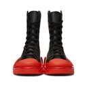 Raf Simons Black and Red adidas Originals Edition Detroit High Boots