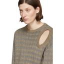 Raf Simons Tan and Silver Jacquard Sweater
