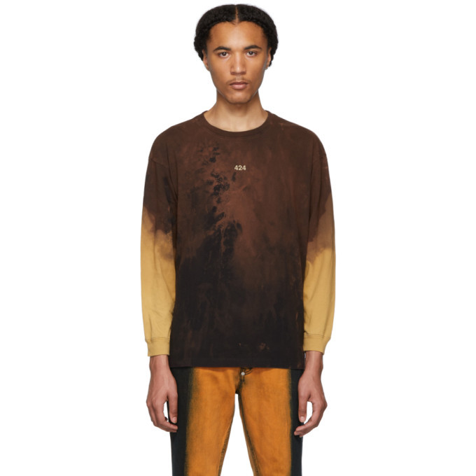Photo: 424 Black Reworked Bleached Long Sleeve T-Shirt