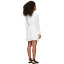 3.1 Phillip Lim White Crepe V-Neck Dress