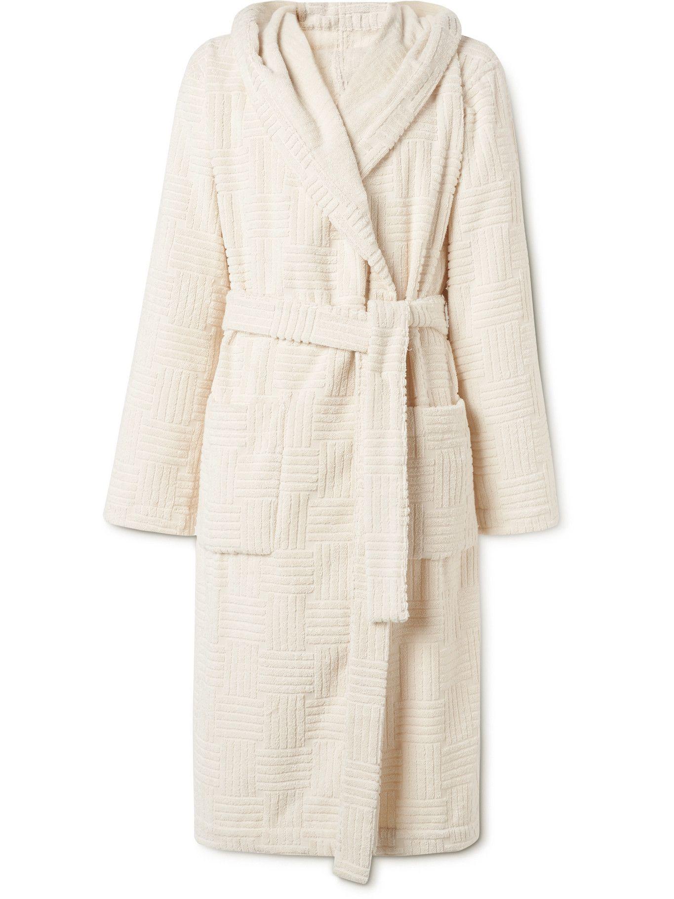 Photo: Bottega Veneta - Cotton-Terry Hooded Robe - Neutrals