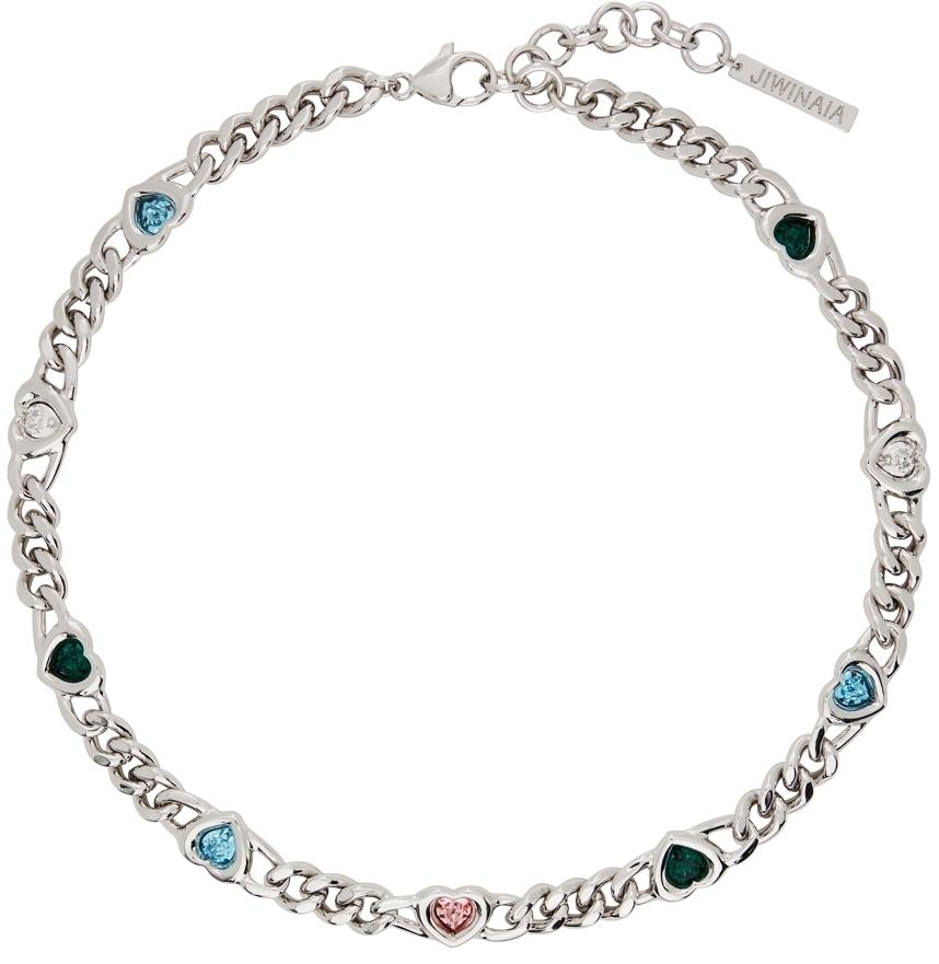Photo: Jiwinaia SSENSE Exclusive Silver Heart Necklace