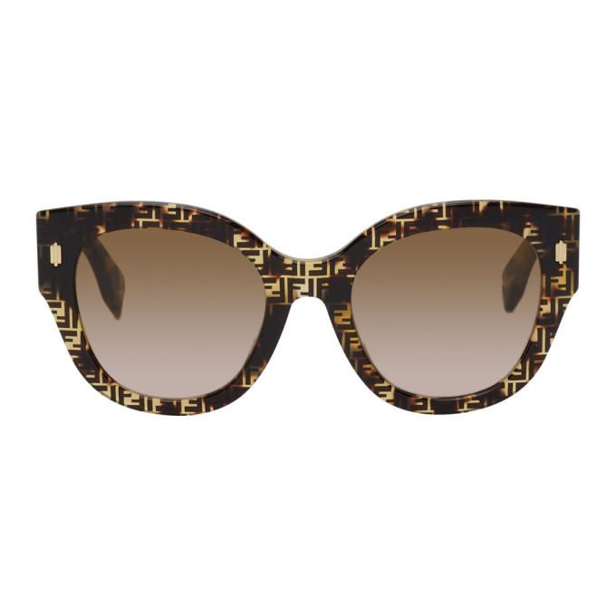Photo: Fendi Tortoiseshell F Is Fendi Round Sunglasses