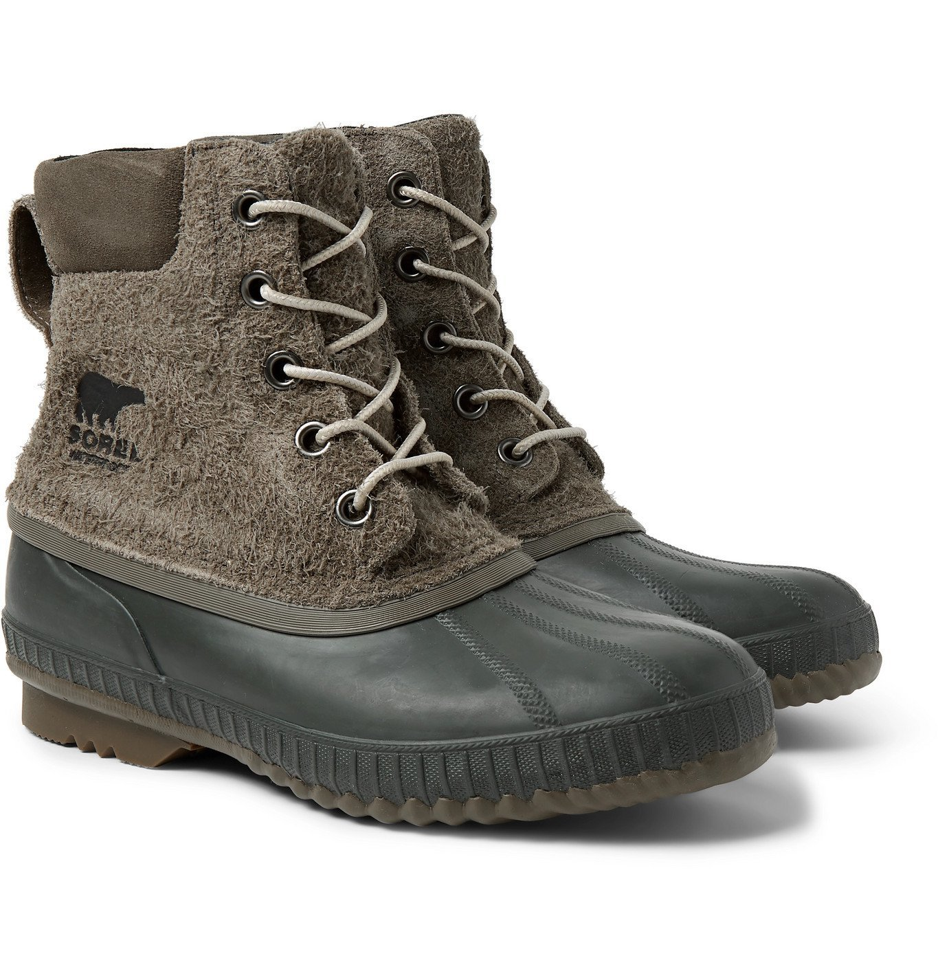 Photo: Sorel - Cheyanne II Waterproof Textured-Suede and Rubber Boots - Green