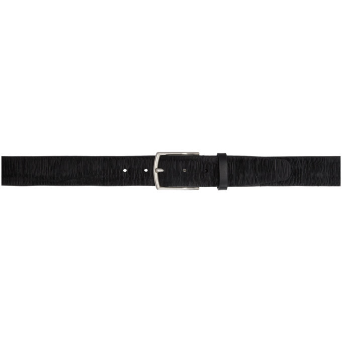 Photo: PS by Paul Smith Black Textured Leather Belt