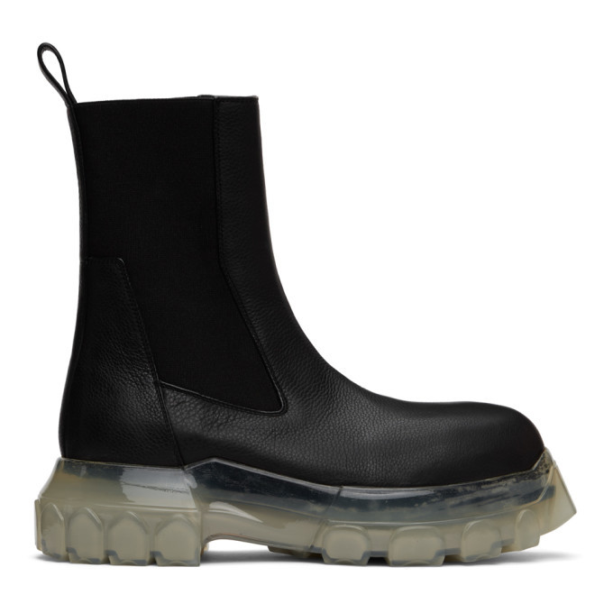 Photo: Rick Owens Black Mega Bozo Tractor Beetle Boots