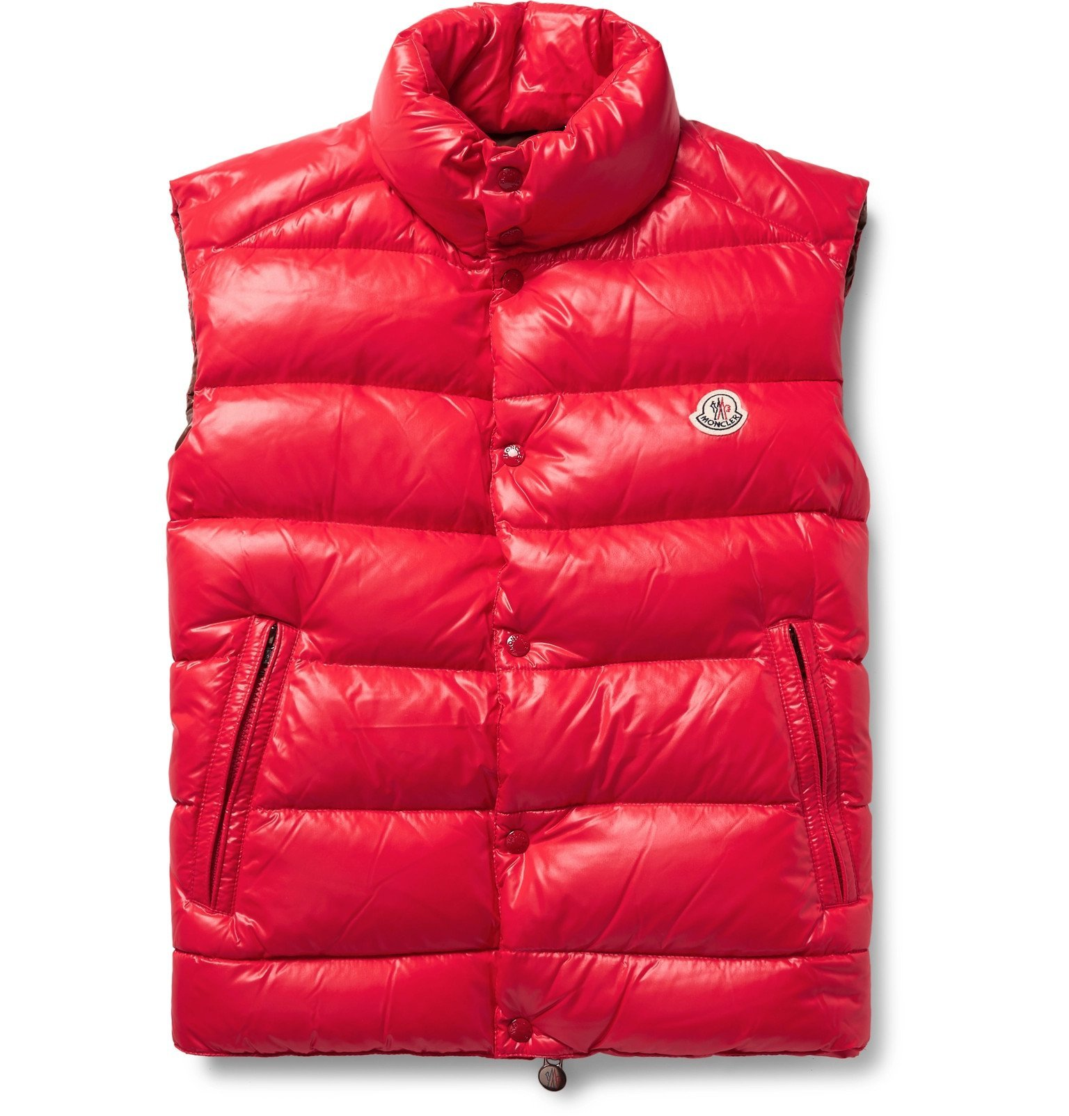 Photo: Moncler - Tib Quilted Shell Down Gilet - Red