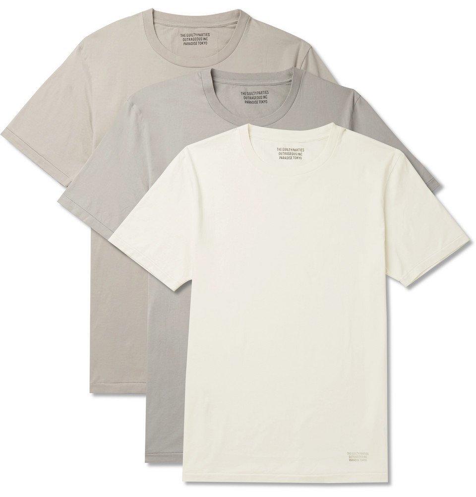 Photo: Wacko Maria - Three-Pack Cotton-Jersey T-Shirts - White