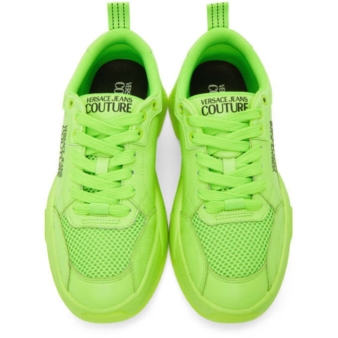 Versace Jeans Couture Green Logo Low-Top Sneakers