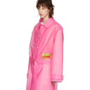 Martine Rose Pink Frosted Rain Mac Trench Coat