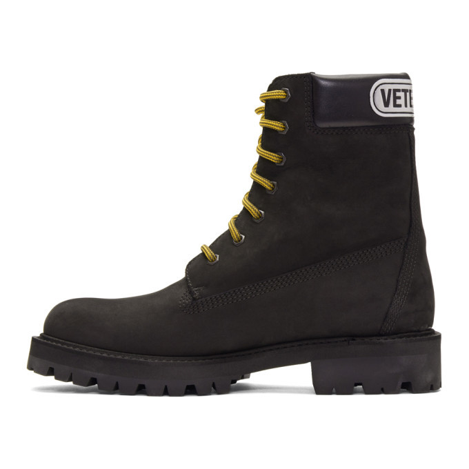 VETEMENTS Black Trucker Boots