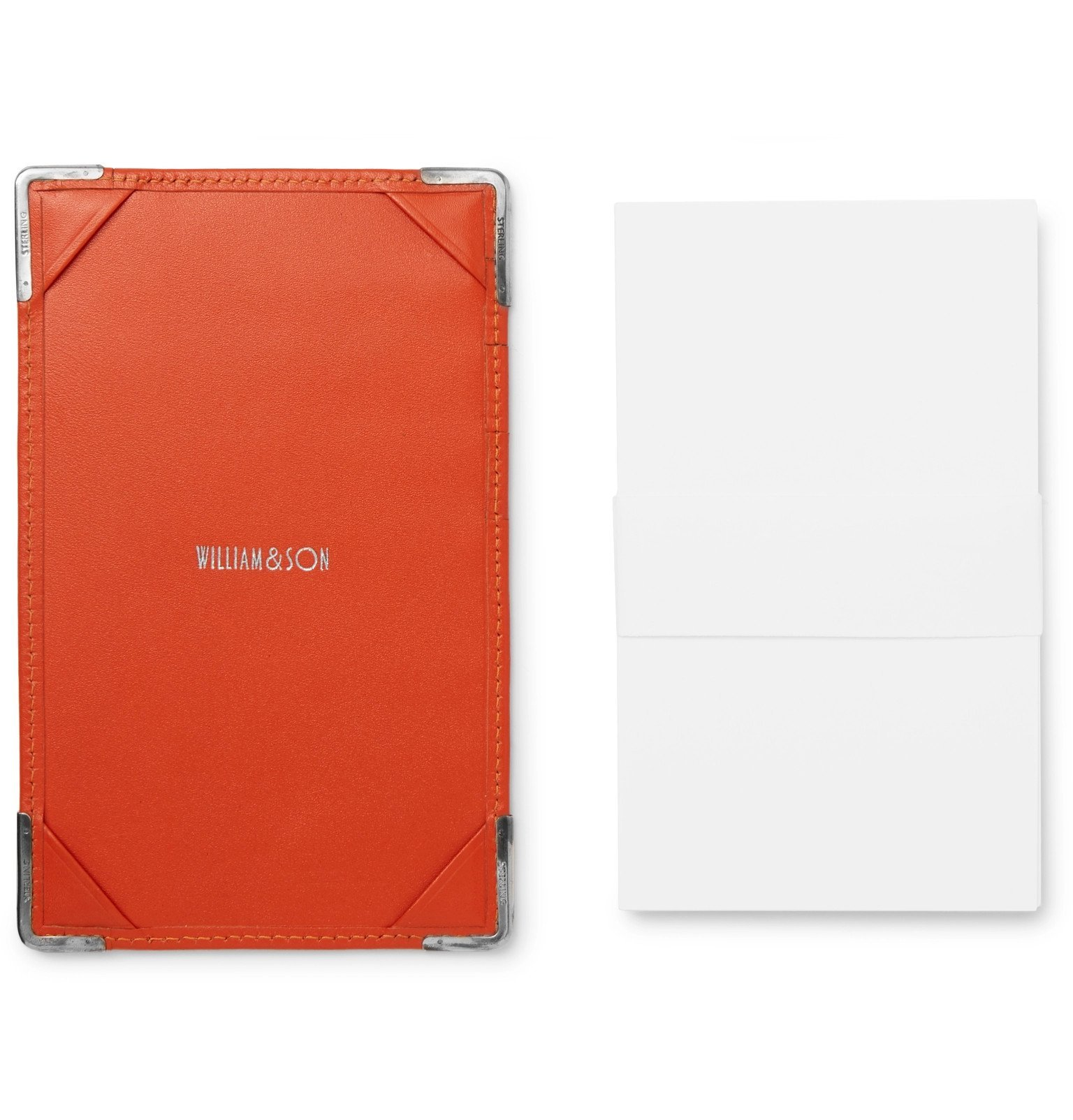 Photo: William & Son - Sterling Silver and Leather Notebook and Cardholder - Orange
