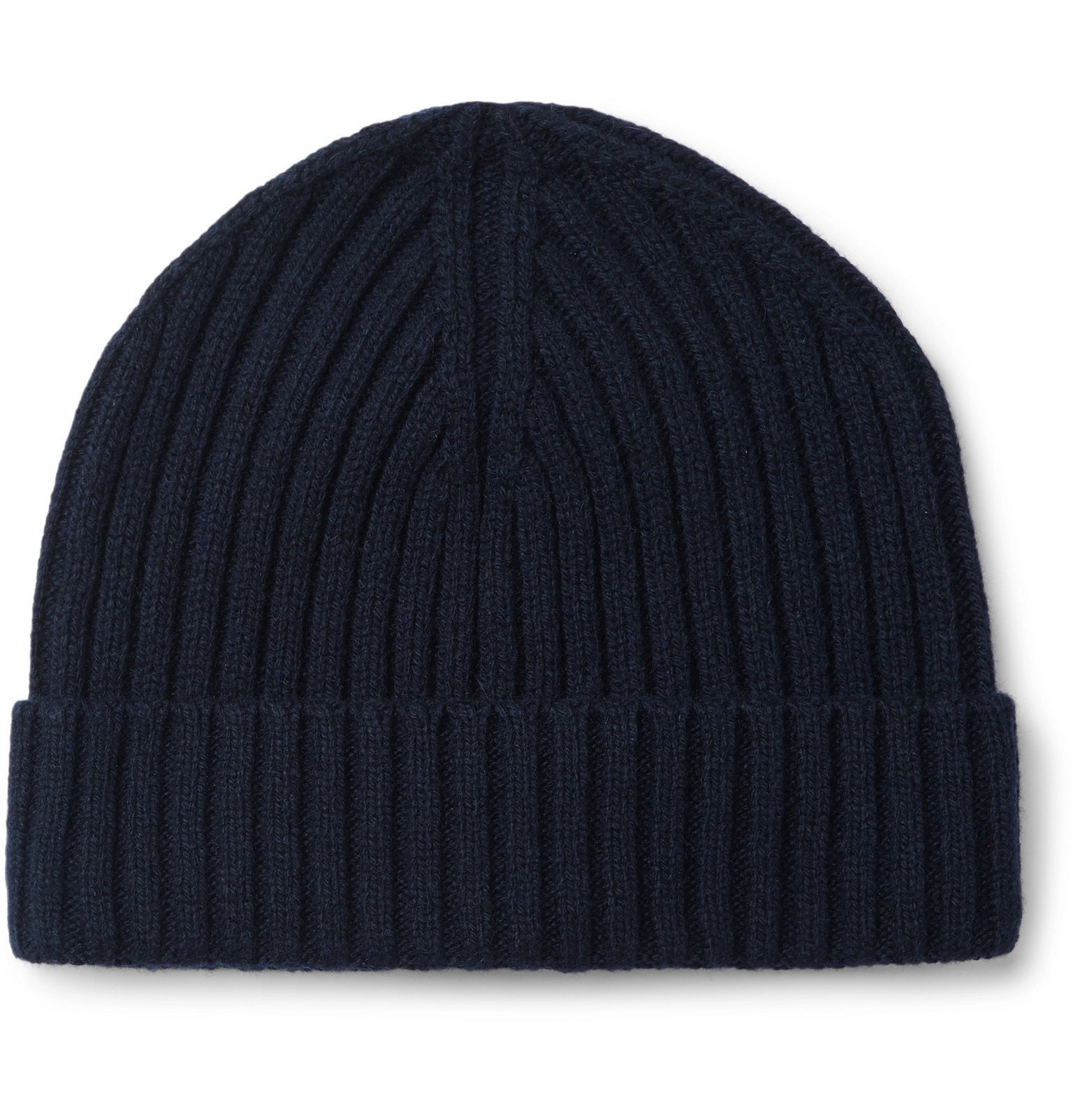 Photo: Officine Generale - Cashmere and Wool-Blend Beanie - Blue