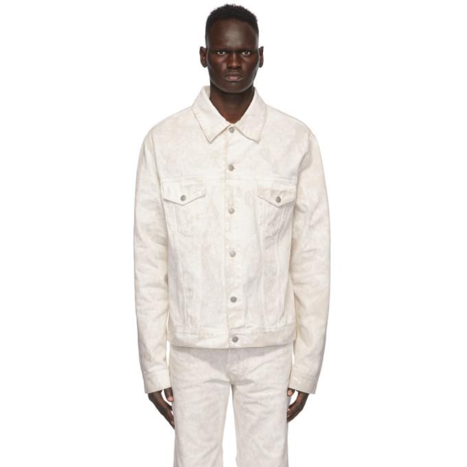 Photo: Maison Margiela White Denim Marble Wash Jacket