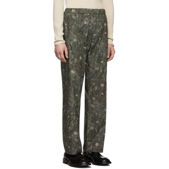 Lemaire Green Sunspel Edition Elasticated Trousers