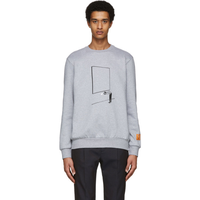 Photo: Paul Smith and Christoph Niemann Grey Gallery Print Sweatshirt