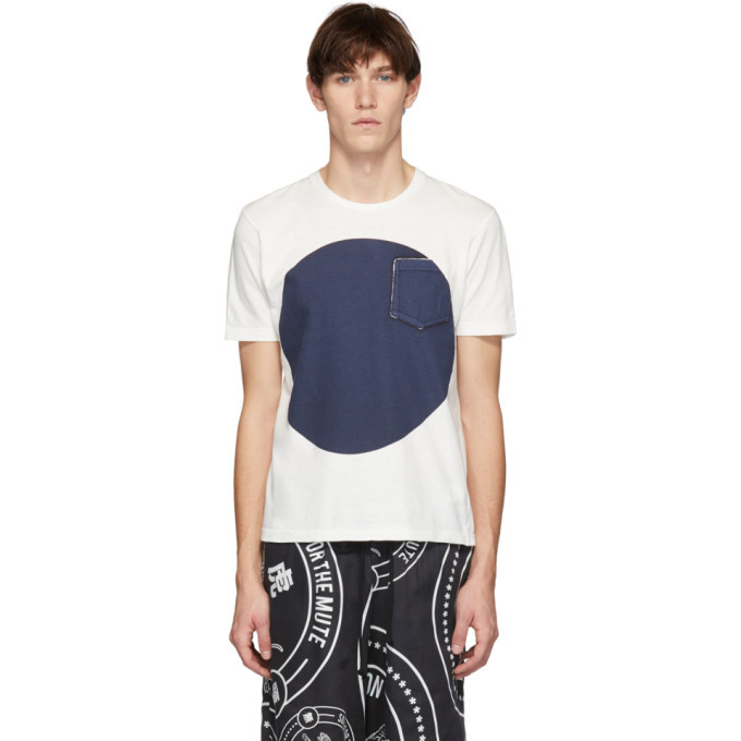 Photo: Blue Blue Japan SSENSE Exclusive White and Indigo Big Circle T-Shirt
