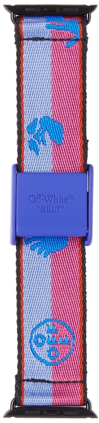 Photo: Off-White Pink & Blue 42 Industrial 2.0 iWatch Band