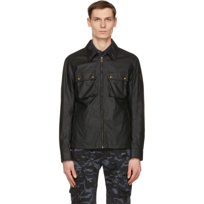 Photo: Belstaff Navy Waxed Dunstall Jacket
