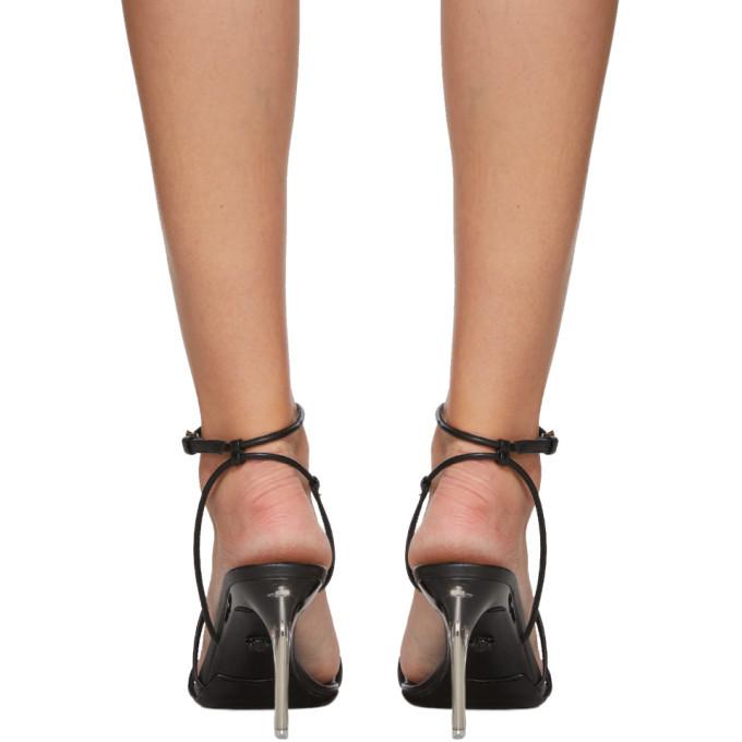 Versace Black Antheia Heeled Sandals
