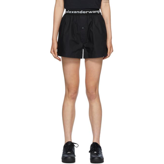 Photo: alexanderwang.t Black Logo Boxer-Style Shorts