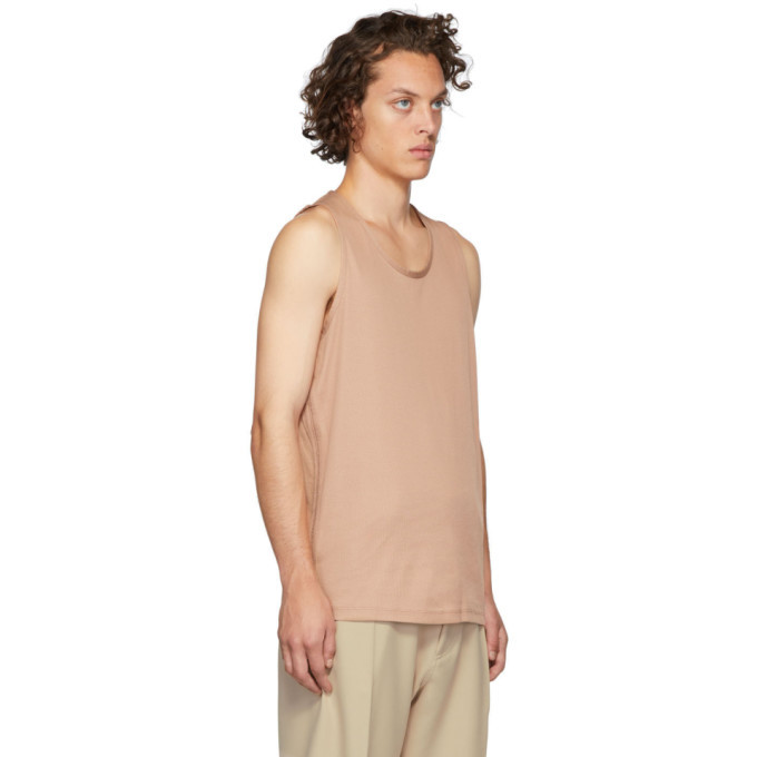 Lemaire Pink Sunspel Edition Jersey Tank Top