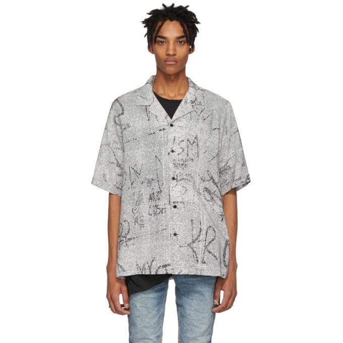 Ksubi Black and White Resort Scribbles Shirt