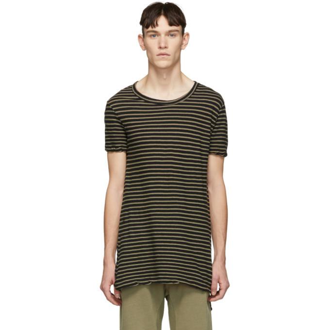Photo: Ksubi Biege Sinister Stripe T-Shirt