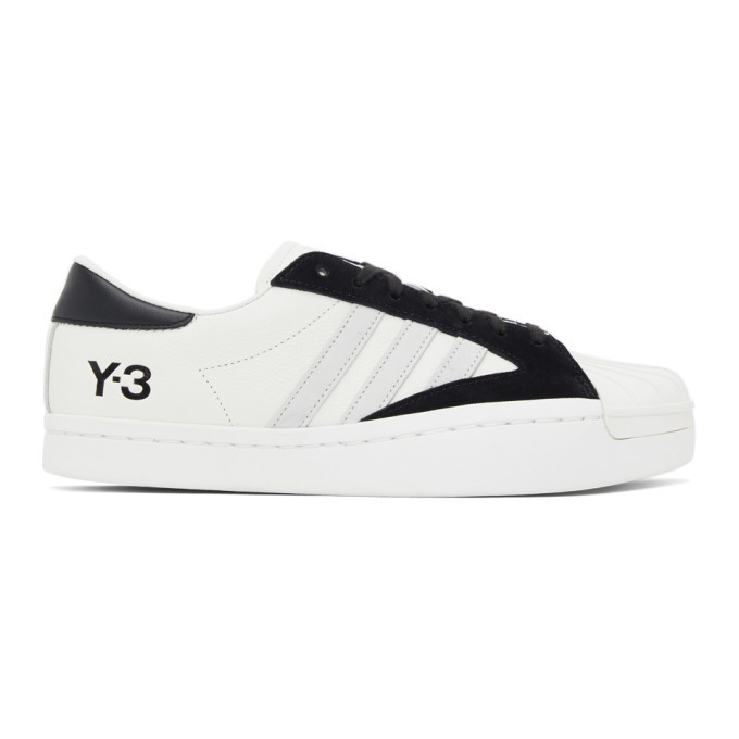 Photo: Y-3 White and Black Yohji Star Sneakers