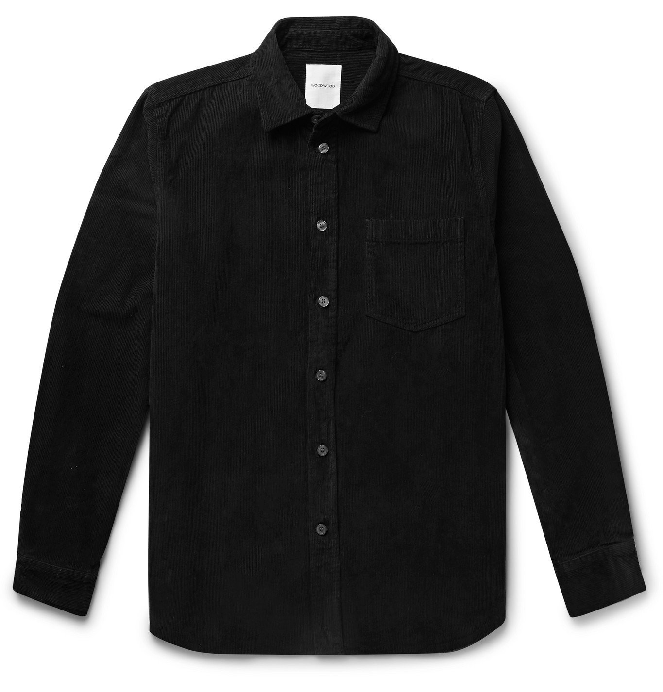 Photo: Wood Wood - Aske Cotton-Corduroy Overshirt - Black