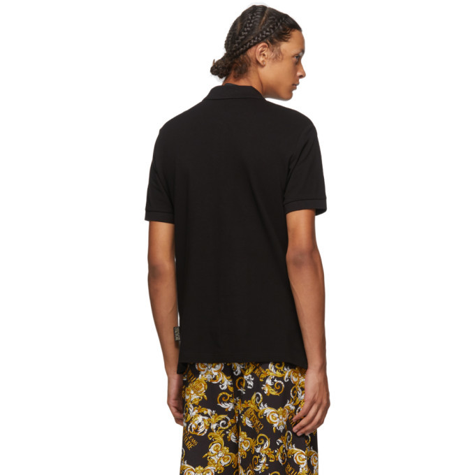 Versace Jeans Couture Black and Gold Warranty Tag Polo