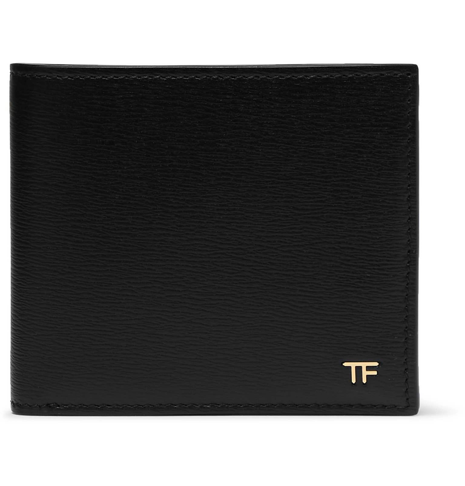 Photo: TOM FORD - Textured-Leather Billfold Wallet - Black
