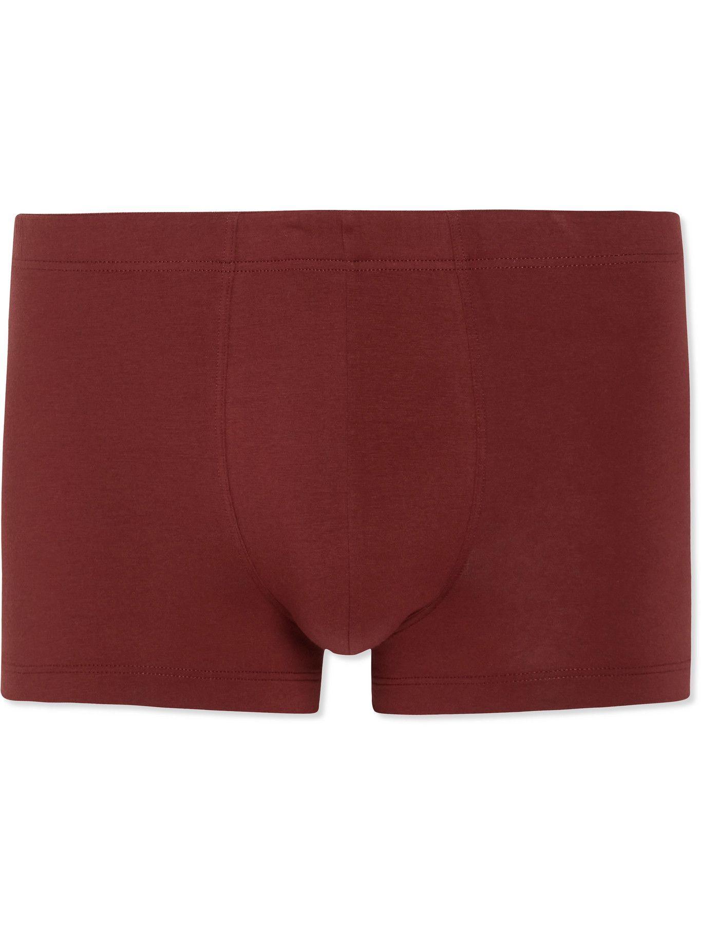 Hanro - Superior Cotton-Blend Boxer Briefs - Red
