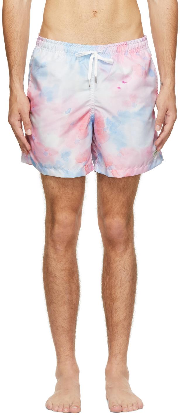 Photo: Bather Blue & Pink Tie-Dye Swim Shorts