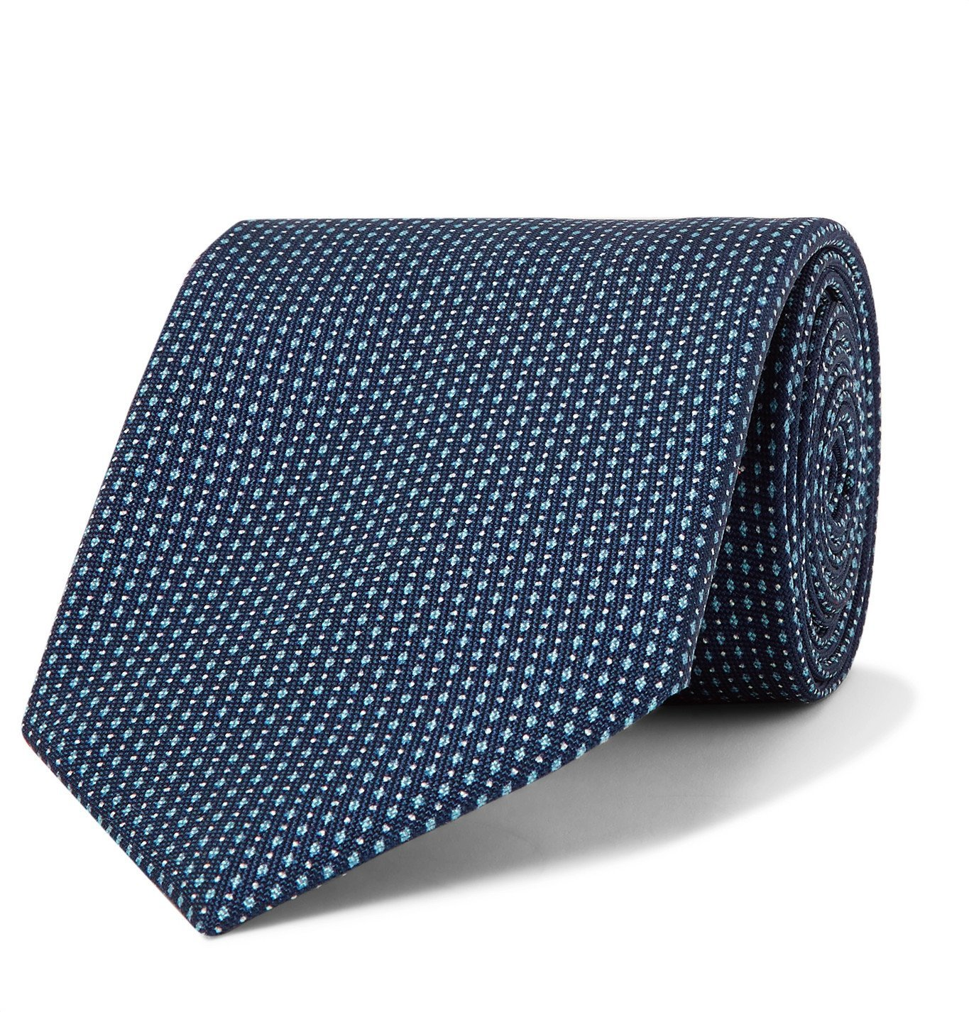 Photo: BRIONI - 8cm Printed Silk Tie - Blue