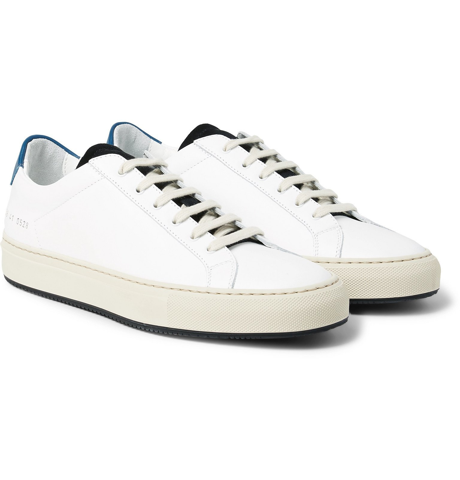 Photo: Common Projects - Achilles Retro Suede-Trimmed Leather Sneakers - White