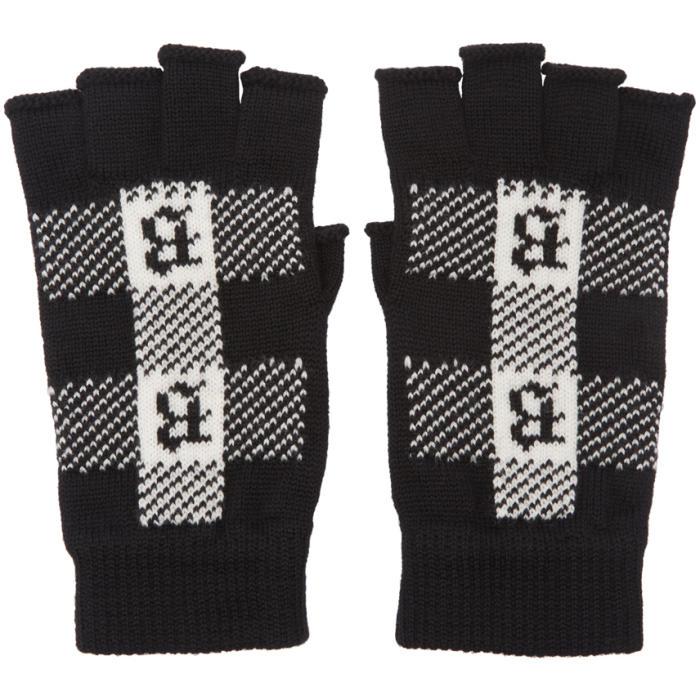 Photo: Brioni Black Fingerless Gloves