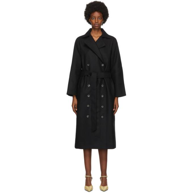 Photo: Toteme Black Wool Terlago Coat