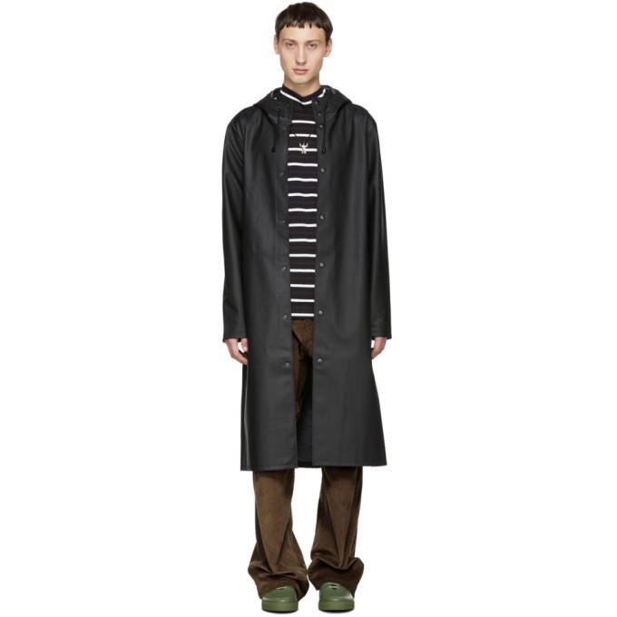 Photo: Stutterheim Black Long Stockholm Raincoat