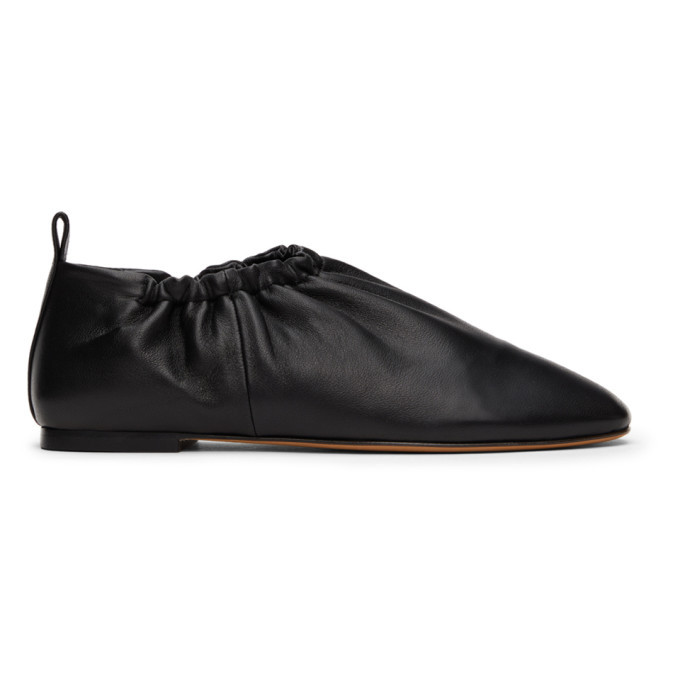 Photo: 3.1 Phillip Lim Black Ruched Leather Slippers