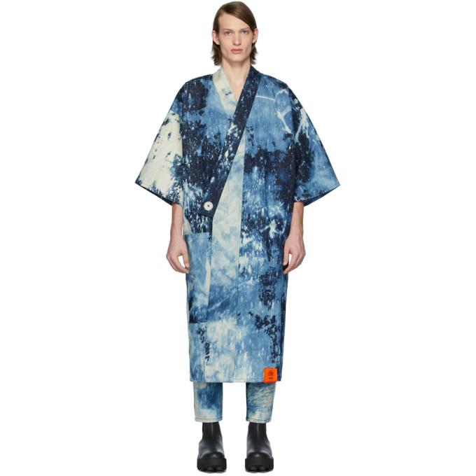 Photo: S.R. STUDIO. LA. CA. Indigo SOTO Hand-Bleached Denim Long Kimono
