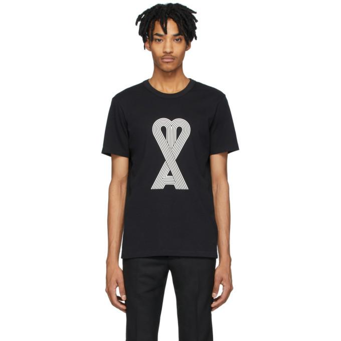 Photo: AMI Alexandre Mattiussi Black Logo T-Shirt