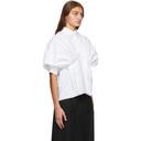 Nina Ricci White Gathered Volume Shirt