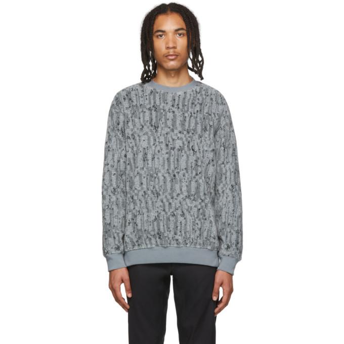 Photo: Stone Island Shadow Project Grey Jacquard Sweatshirt