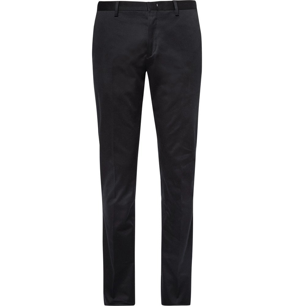 Photo: Paul Smith - Slim-Fit Stretch Cotton-Twill Chinos - Men - Midnight blue