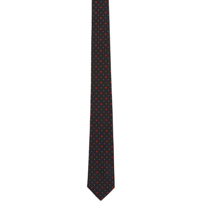 Photo: Paul Smith Navy Silk Heart and Dot Tie