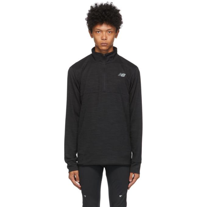 Photo: New Balance Black Tenacity Zip-Up Sweater